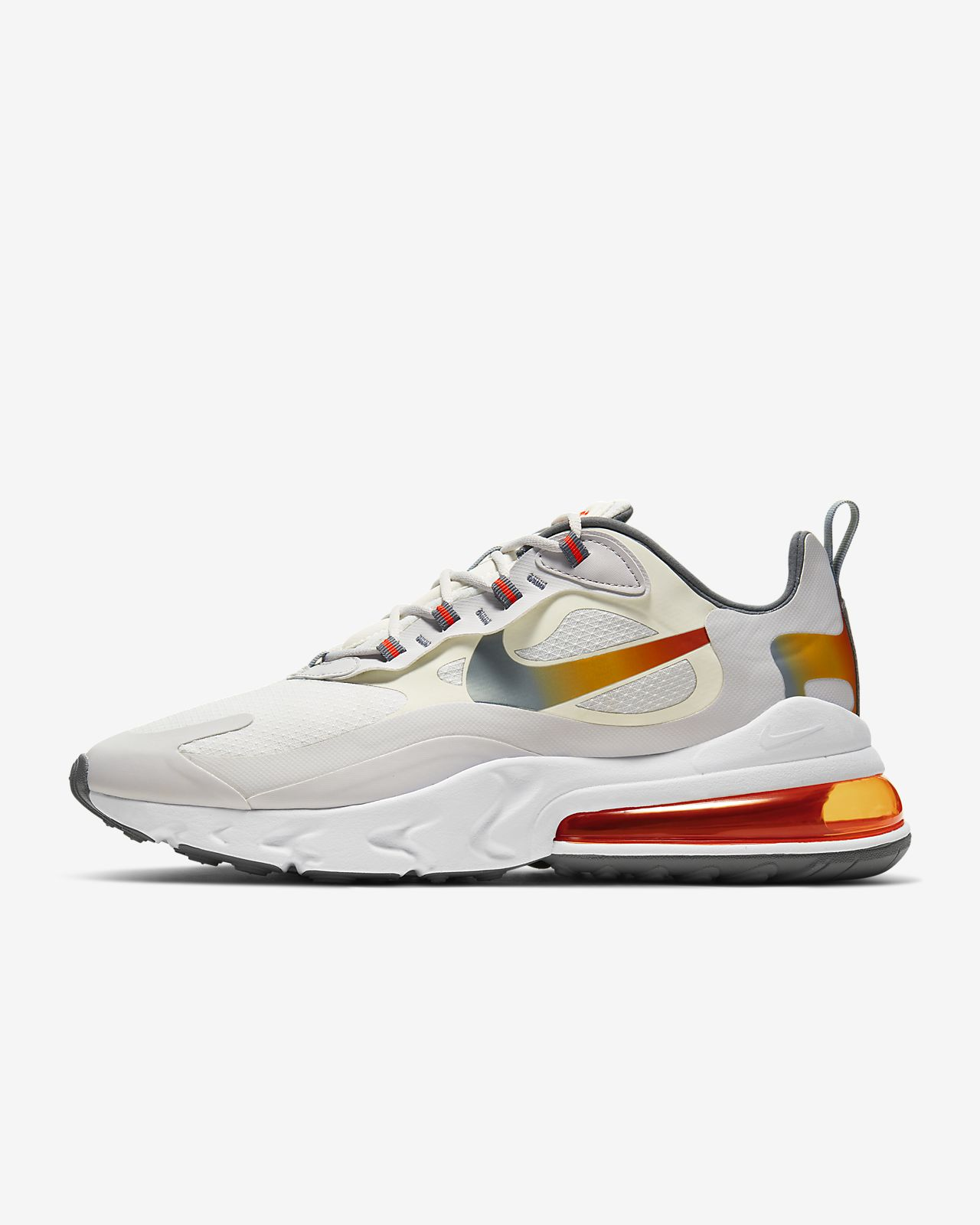 white and gray air max 270